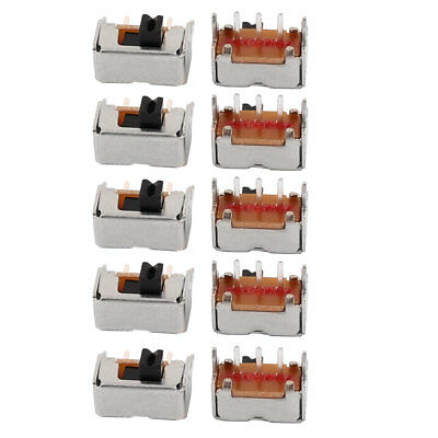 10Pcs 2 Position 3P SPDT Micro Slide Switch Latching Toy Switch 8mmx4mmx4mm