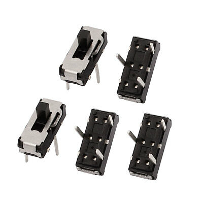 5 Pcs 2 Position Straight 3P SPDT Mini Slide Switch Latching Toggle Switch