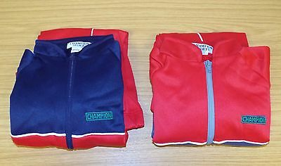 2 x VINTAGE 1980's UNWORN BOYS CHAMPION SPORTS POLYESTER TRACKSUITS 4-5 YEARS