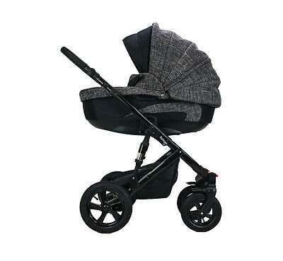 Springer 3 in 1 Kombi Kinderwagen Sportwagen Babyschale Buggy London CityPlus