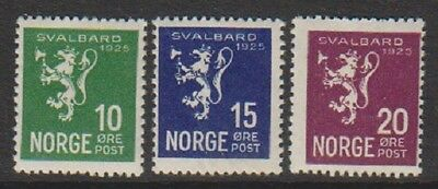 Norway - 1925, 10 ore - 20 ore Spitzbergen stamps - M/M - SG 183/5