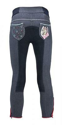 BUSSE Kinder Reithose KIDS COLLECTION III pullon Schlupfhose Jeans 98 104 122