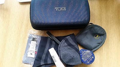 tumi delta amenity kit business class in-flight kit case wash bag cable case