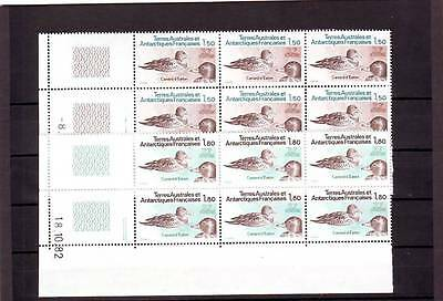 a120 - FRENCH ANTARCTIC TERR - SG172-173 MNH 1983 PINTAILS - BLOCKS OF 6