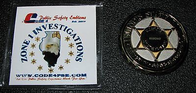 """Illinois State Police Zone 1 """" NARCINT """" Investigations  2 Inch Challenge Coin"""