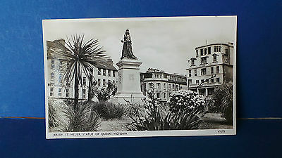 Jersey Channel Islands Postcard Statue of Queen Victoria Photochrom V1695 c1960