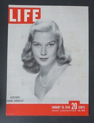 Original Life Magazine COVER ONLY Debutante Joanne Connelley  January 10 1949