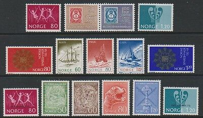 Norway - 1972, 15 x Issues - MNH