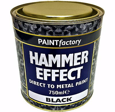 750ml Long Lasting Hammer Black Paint Can Easy To Apply Indoor Outdoor Adhesion