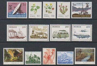 Norway - 1979/81, 14 x Issues - MNH
