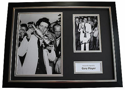Gary Player SIGNED FRAMED Photo Autograph 16x12 display Golf AFTAL & COA