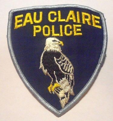 Eau Claire Wisconsin Police Shoulder Patch Old Used
