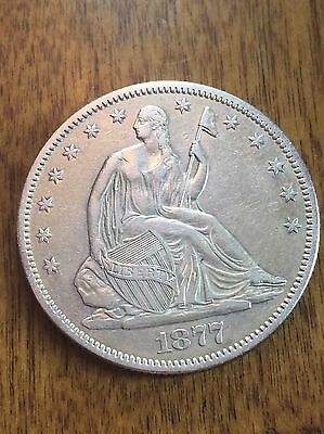 1877s Seated Liberty Half Dollar Higher Grade Coin