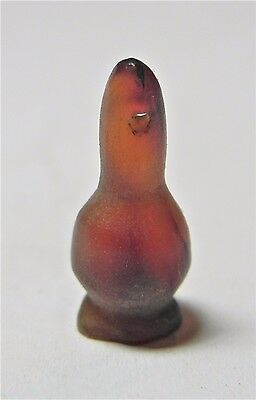 ZURQIEH -af1338- ANCIENT EGYPT ,18th DYNASTY AGATE POPPY SEED BEAD. 1400 B.C