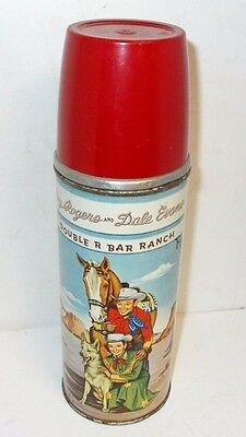 Vintage Roy Rogers and Dale Evans Double R Bar Ranch Thermos