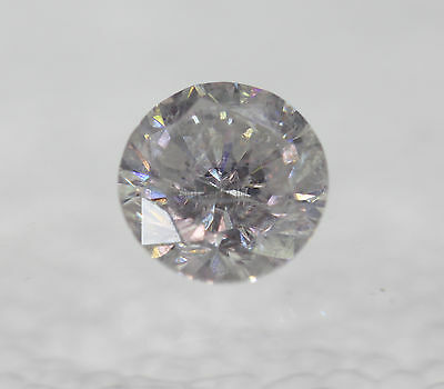 Certified 0.81 Carat F SI2 Round Brilliant Enhanced Natural Loose Diamond 5.78mm