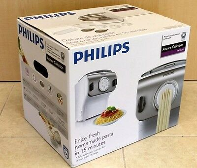 NEW Phillips Avance Collection Pasta Maker HR2357/05 Spaghetti Lasagna Tools
