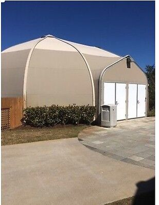 Sprung structure, fabric building, tent