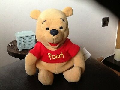 1990's WINNIE THE POOH  Beanie Bear . WITH EXCLUSIVELY MADE FOR WALY DISNEY TAG