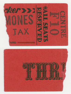 punk THE RAMONES orig 1976 TORONTO Canada TICKET STUB New Yorker