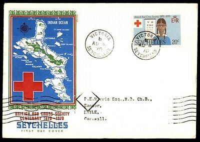 August 4, 1970 British Red Cross Society Seychelles first-day cover