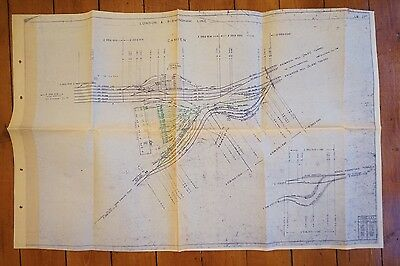 1976 London to Birmingham Line Camden Railway Track Plan
