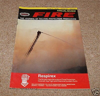 Fire Magazine - Vol 79 No 979 January 1987
