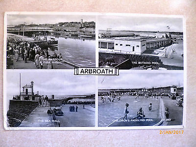 Topographical Photo views postcard - Posted 1963 - ARBROATH