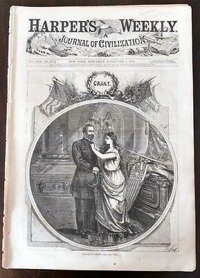 Harper's 1864 Thomas Nast, Thanks To Grant Cover & Winslow Homer - SCARCE, Exc.