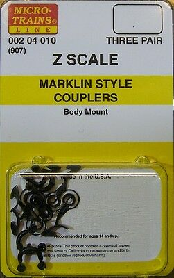 MicroTrains 204010 Z Couplers Marklin-Compatible Body Mount Replacements 3 Pairs