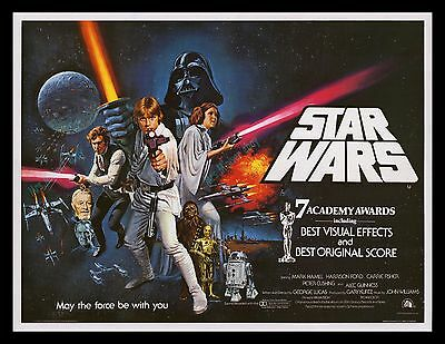 1978 STAR WARS ☆ NearMINT BRITISH QUAD! ☆  LINEN-MOUNTED! ☆ Investment QUALITY!