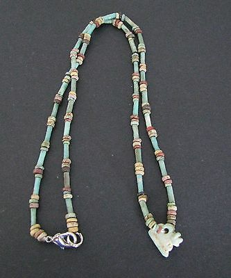 NILE  Ancient Egyptian Apis Bull Amulet Necklace ca 600 BC