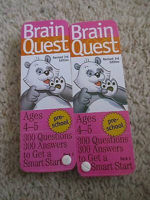 Brain Quest Pre-School  Ages 4-5 Deck One & Deck Two