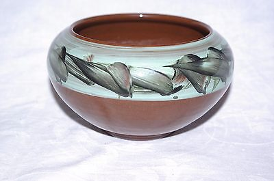 Vintage Handpainted Studio Pottery Bowl Holkham Pottery Norfolk1950's Signed