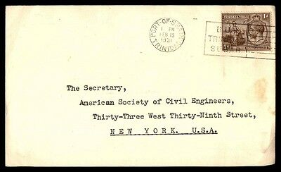 Trinidad Port of Spain Buy Sugar 1931 Cancellation Cover to United States