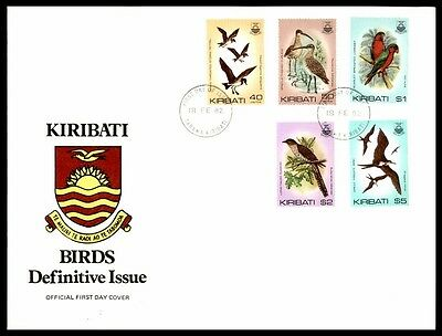 February 18, 1982 Kiribati Birds Issues First-Day Nice Cover Illustrated