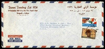 Tripoli Libya Nice Cover Airmail To Chicago Illinois Usa Commercial Mailed