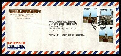 General Automation Singapore Commercial Nice Cover Airmail To Elkins Park Pa Usa