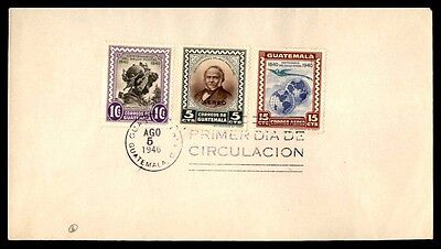 Guatemala 1946 Airmail First Day Cover FDC Scott C140-C141