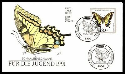 April 9 1991 Germany Entomology Schwalbenschanz First-Day Cover