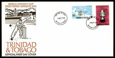 October 4, 1976 World Cricket Cup Trinidad Sports Nice First Day Cover