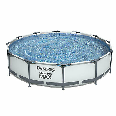 792f2b4da45 Bestway Steel Pro 12 x 12 Foot Frame Above Ground Swimming Pool with Filter  Pump
