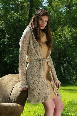 Mohair Dress & Lacy Cardigan
