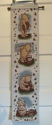 """8"""" X 33"""" Winnie The Pooh Wall Hanging with Wooden Dowel"""