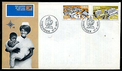Swa 1976 Nurses - Hospital Stamp Set On First Day Cover