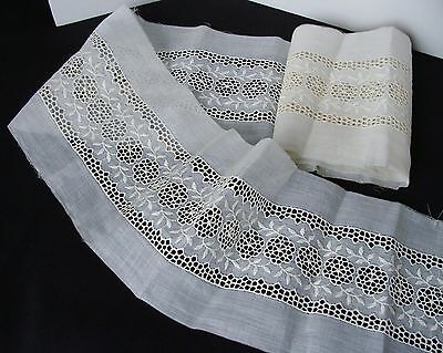 Antique Cotton White Work Lace Trim