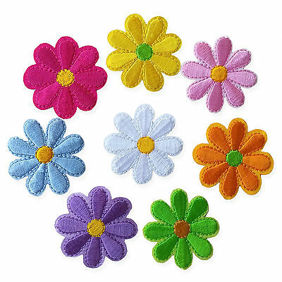 Cute Flower Daisy Iron Sew on Appliques Patches Embroidered Motif Floral DIY