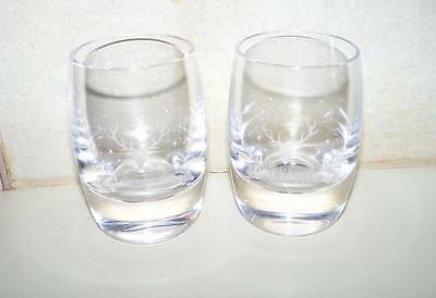 Pair The Dalmore Distillery Heavy Bottom Etched Crystal Scotch Shot Glass