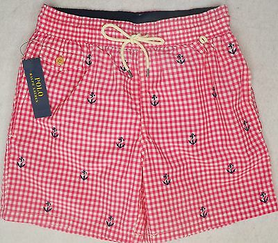 Polo Ralph Lauren Swim Trunks Embroidered Anchor Swimming Short M Medium NWT