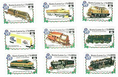 1992 Sierra Leone - Stamp Expo - Toy Train - 9 Stamps - Various Values
